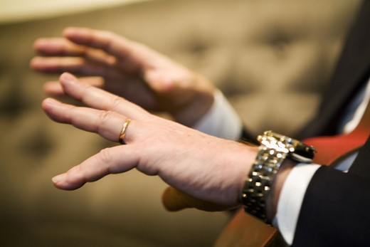 Stock Photo: 4400R-5668 Hands gesticulating, Sweden.