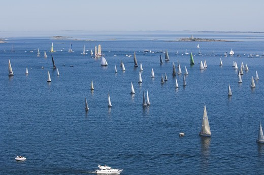 Stock Photo: 4401R-10017 Yacht race, Sweden.