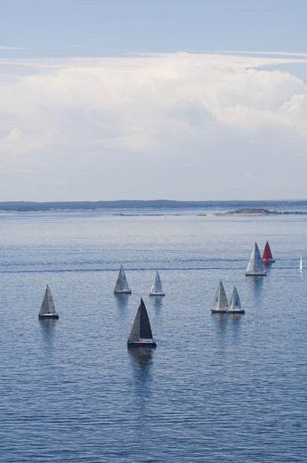 Stock Photo: 4401R-10019 Sailing-boats, Sweden.