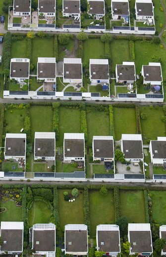 Stock Photo: 4401R-10105 Row-houses from above