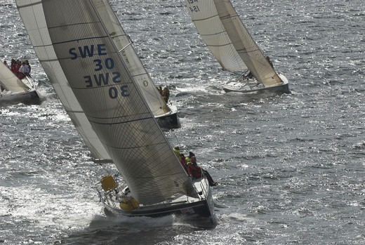 Yacht race, Bohuslan, Sweden. : Stock Photo
