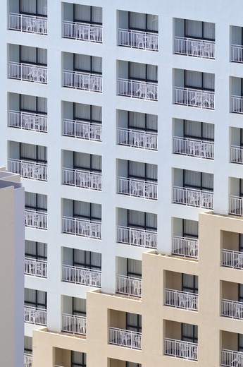 Portugal, Madeira, Exterior of apartment building (full frame) : Stock Photo