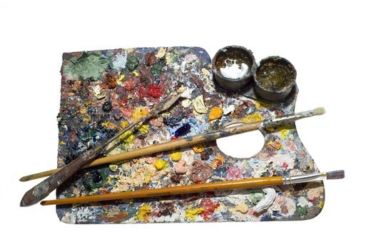 Stock Photo: 4401R-13950 Studio shot of painters palette
