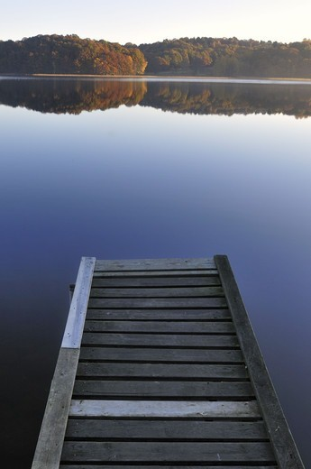 Wooden jetty on lake : Stock Photo