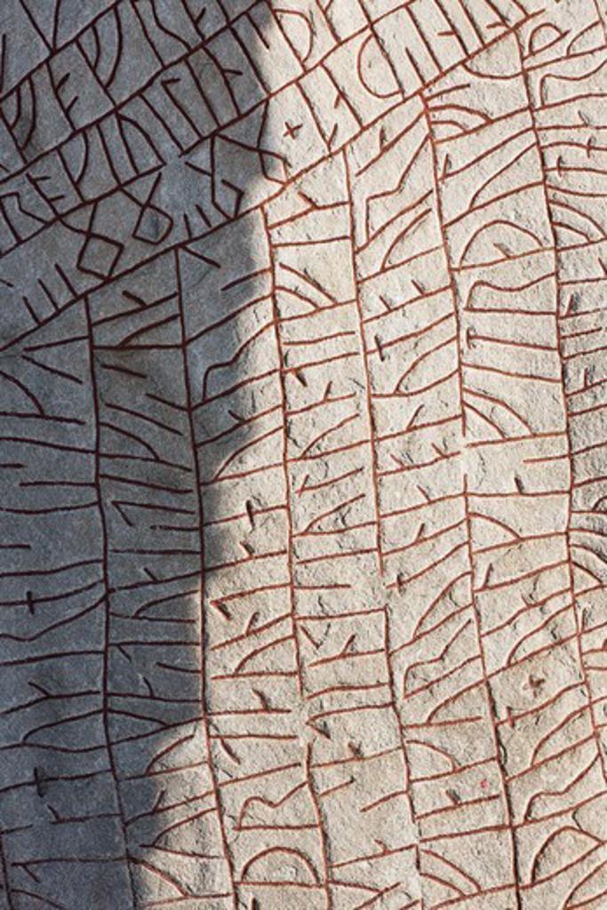 Stock Photo: 4401R-14358 Close-up of rune stone