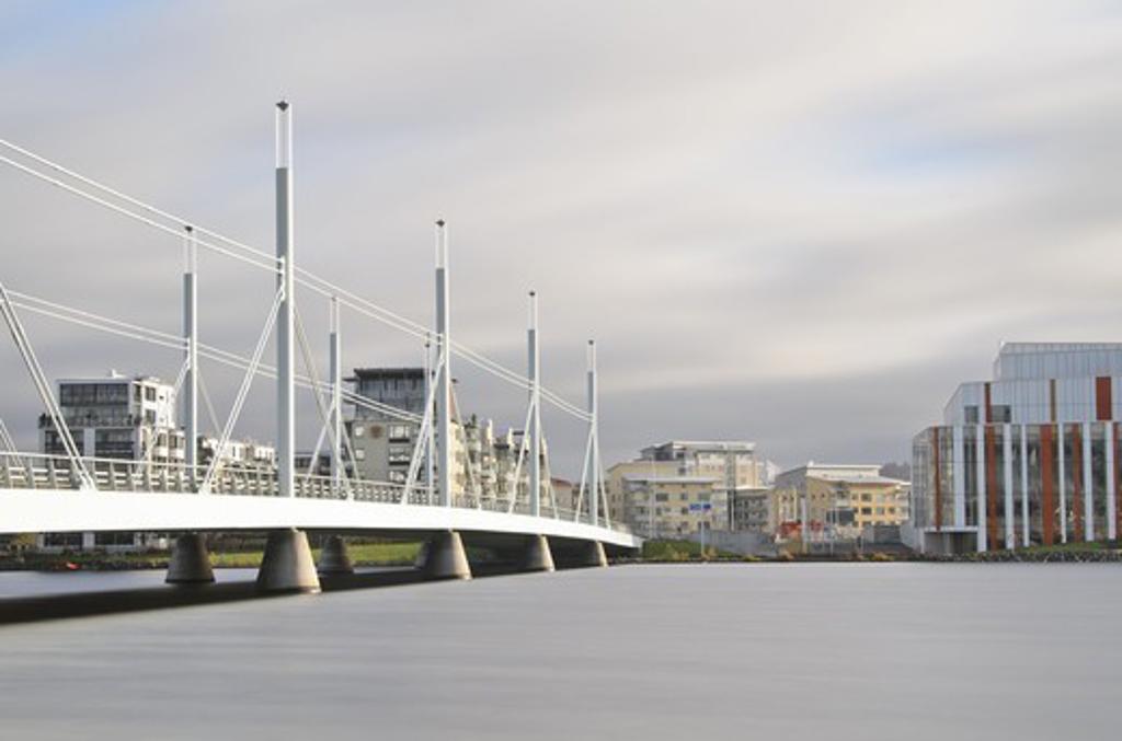 Skyline with bridge : Stock Photo