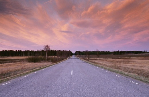Stock Photo: 4401R-3107 Road against cloudy sky
