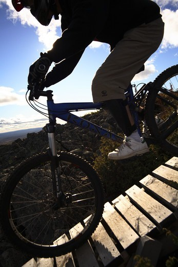 Stock Photo: 4401R-4190 A mountain bike ride, Finland.