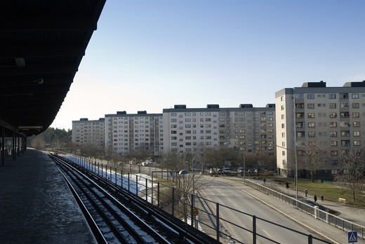 Stock Photo: 4401R-6376 Bredang, a suburb of Stockholm, Sweden.