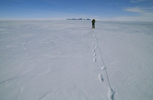 Environmental research, the Antarctic. : Stock Photo