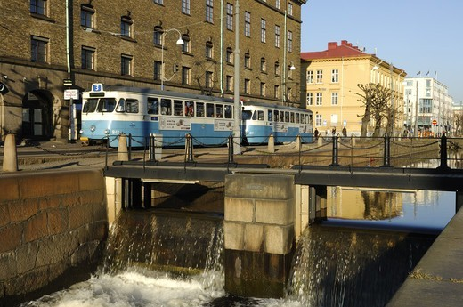 Trams in Gothenburg, Sweden. : Stock Photo