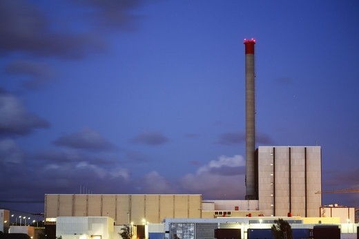 Stock Photo: 4401R-8491 A nuclear power station, Sweden.