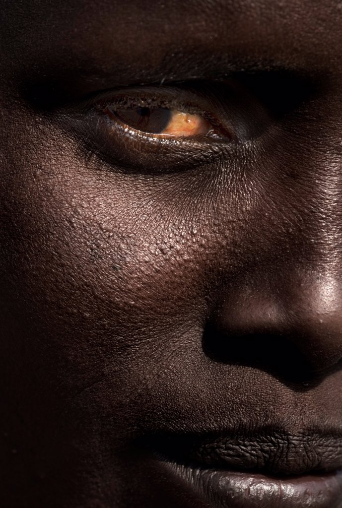 Stock Photo: 4402-2974 Close-up of face of Turkana woman, Kenya.