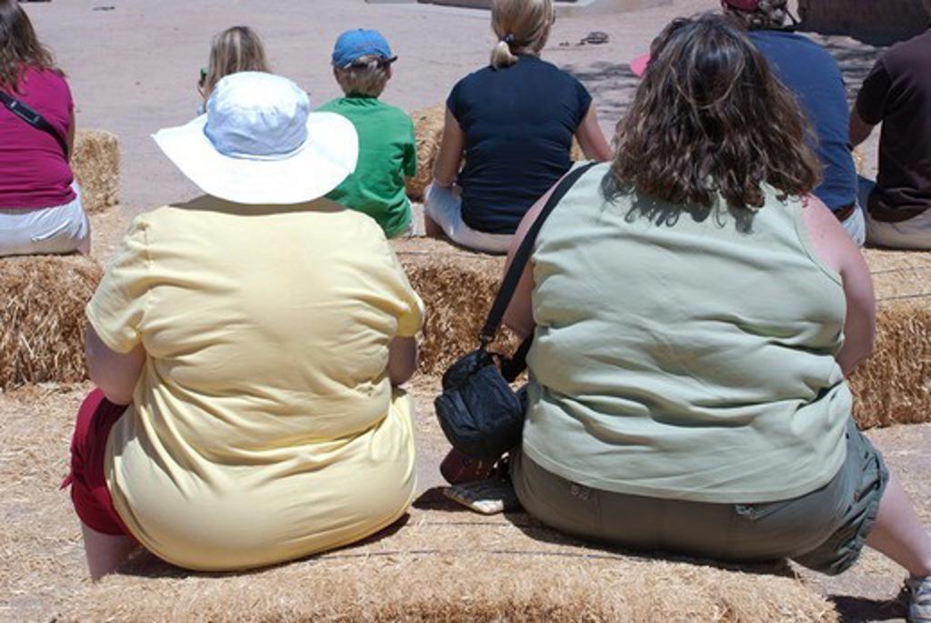 USA, Arizona, Tucson, Obese women at Old Tucson Studios : Stock Photo