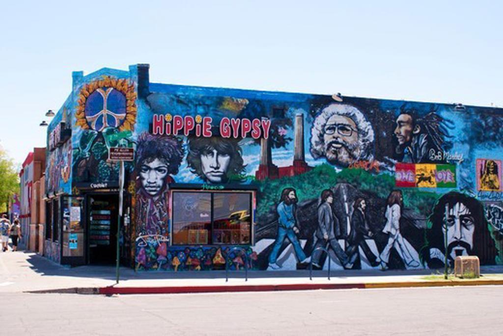 Stock Photo: 4404-1223 USA, Arizona, Tucson, Hippie Gypsy shop