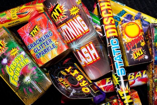 Stock Photo: 4404-1662 Close-up of assorted firecrackers