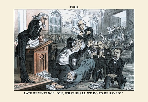 Stock Photo: 4408-10179 Puck Magazine: Late Repentance, Puck Magazine