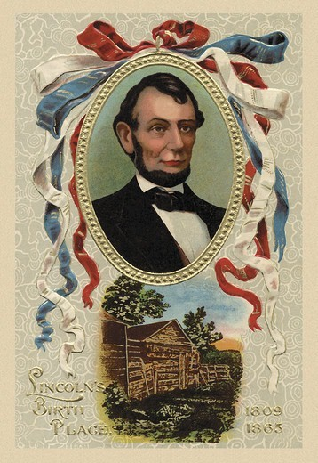 Stock Photo: 4408-10323 Lincoln's Birth Place, US Presidents