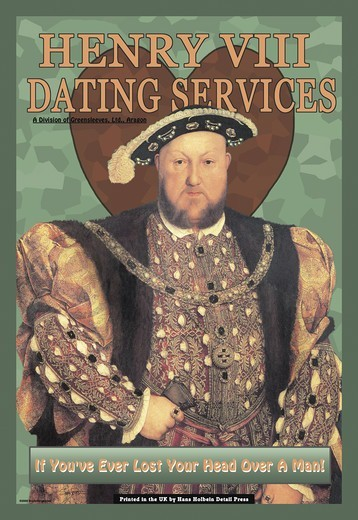 Stock Photo: 4408-10777 Henry VIII Dating Services, Tongue-in-Cheek