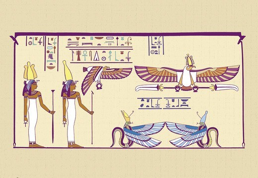 Nekheb, Ancient Egypt : Stock Photo