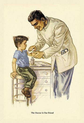 Stock Photo: 4408-10952 Doctor is Our Friend, Christian Illustration