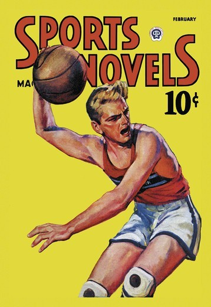 Sports Novels Magazine: February, 1942, Basketball : Stock Photo