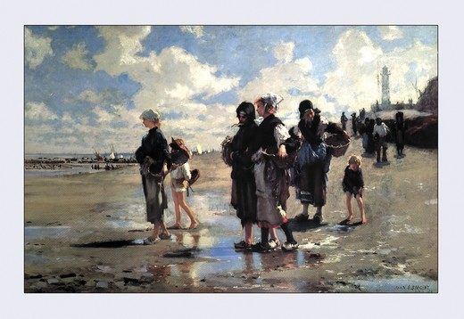 Oyster Gatherers of Cancale, Fine Art : Stock Photo