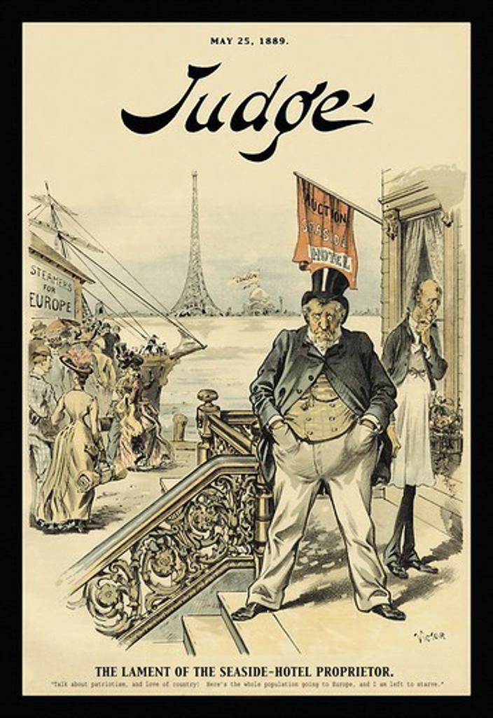 Judge Magazine: The Lament of the Seaside-Hotel Proprietor, Judge Magazine : Stock Photo