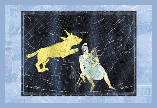 Stock Photo: 4408-11773 Lynx and Auriga #1, Celestial & Astrological Charts