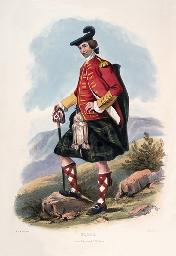 Stock Photo: 4408-11836 Ulric, Scottish Clans