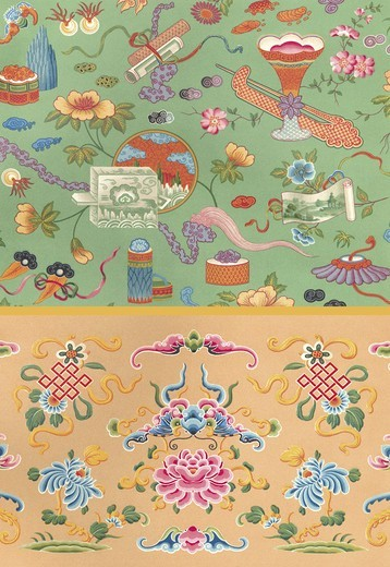 Stock Photo: 4408-11880 Chinese Design #2, Designs & Patterns from History