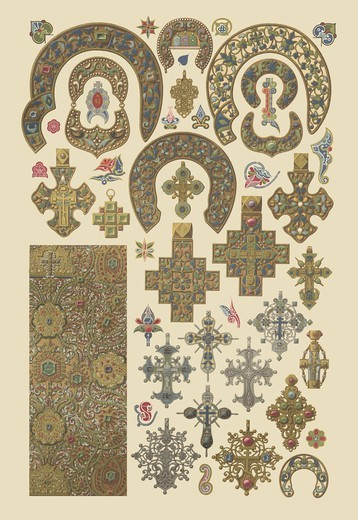 Russian Metalwork, Designs & Patterns from History : Stock Photo