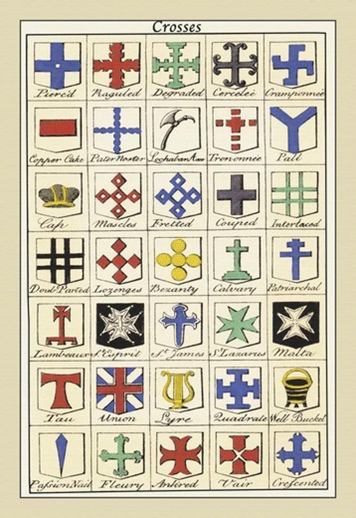Crosses, Heraldry - Symbols : Stock Photo