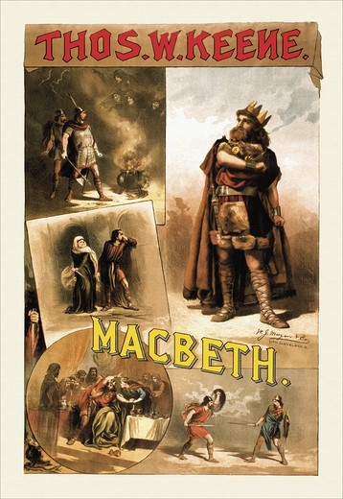 Stock Photo: 4408-12448 Thos W. Keene as Macbeth, Shakespeare