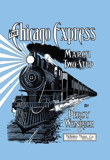 Stock Photo: 4408-12551 The Chicago Express - March Two Step, America