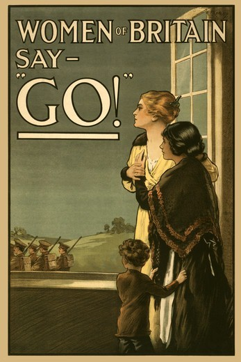 "Stock Photo: 4408-12616 Women of Britain say """"GO!"""", Women of Strength"