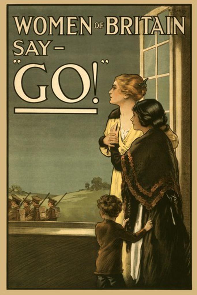 "Women of Britain say """"GO!"""", Women of Strength : Stock Photo"