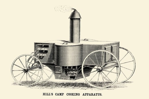 Hill's Camp Cooking Apparatus, Industrial America - Invention : Stock Photo