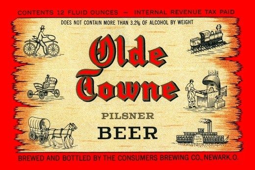 Olde Towne Pilsner Beer, Beer : Stock Photo