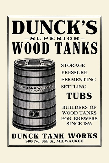 Dunck Tank Works, Beer : Stock Photo