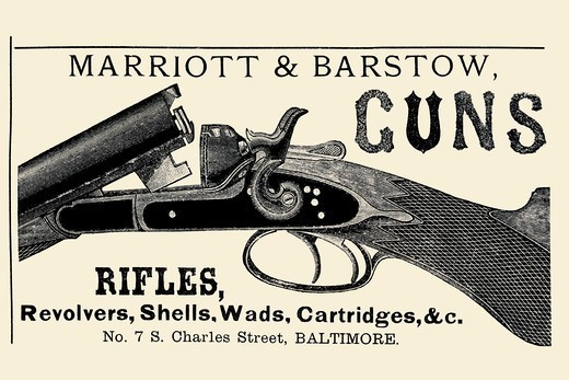 Marriott & Barstow Guns, Advertising : Stock Photo