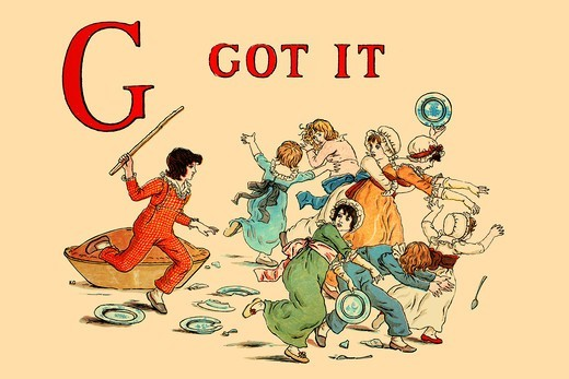 Stock Photo: 4408-13473 G - Got It, Victorian Children's Literature - Kate Greenaway