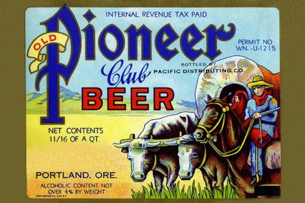 Stock Photo: 4408-13560 Old Pioneer Club Beer, Beer