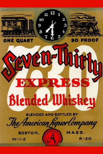 Stock Photo: 4408-13644 Seven-Thirty Express Blended Whiskey, Liquor & Spirits