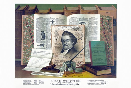 Noah Webster - Schoolmaster of the Republic, Famous Americans : Stock Photo