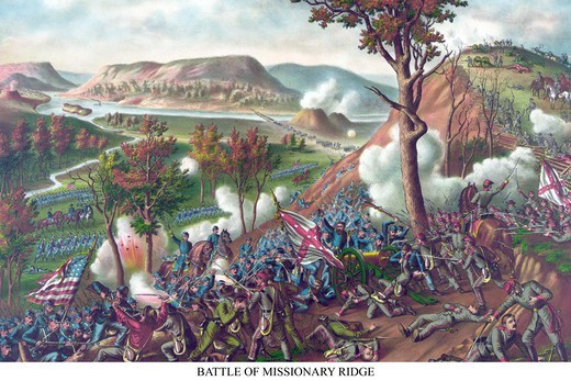 Stock Photo: 4408-13871 Battle of Missionary Ridge, Civil War - USA