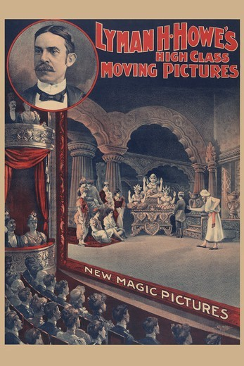 Stock Photo: 4408-14055 Lyman H. Howe's high class moving pictures - new magic pictures , Vintage Film Posters