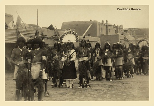 Stock Photo: 4408-1436 Pueblo Dance, Native American