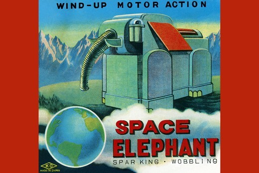 Stock Photo: 4408-14728 Space Elephant, Robots, ray guns & rocket ships