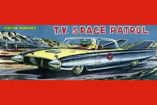 T.V. Space Patrol Car, Robots, ray guns & rocket ships : Stock Photo